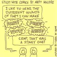 Sticky Note Comics: I like to fart