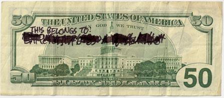 This 50 dollar bill belongs to - Spudart