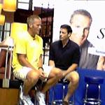 Brett Favre promoting Sensodyne in Chicago's Nordstrom Mall