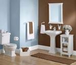 Brown Light Blue Bathroom