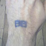 Bleacher Bum hand stamps at Wrigley Field