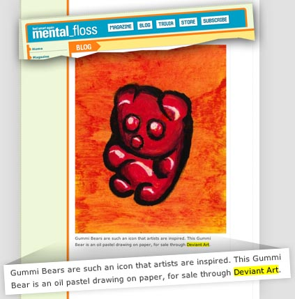 My gummi bear featured by mental_floss magazine