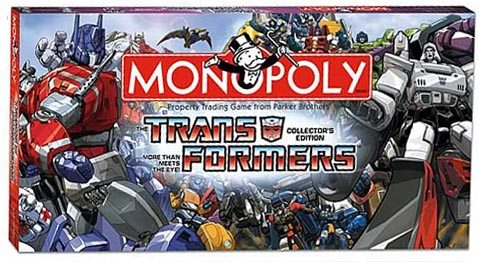 Transformers  Monopoly board game: collector's edition