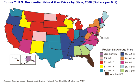 Average Cost Of Gas For Apartments