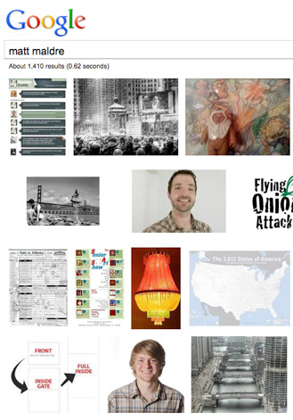 Google image search for your name