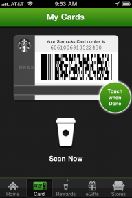 Use the money on Jonathan Stark's Starbucks card