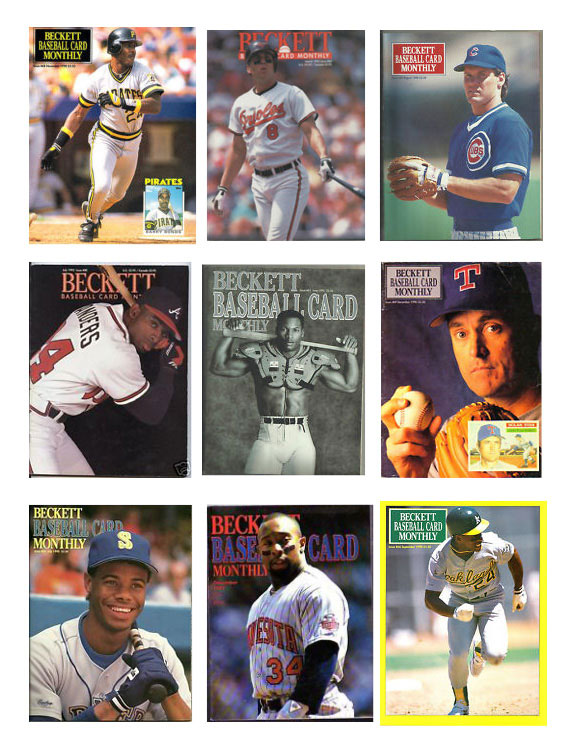 The beautiful, simple designs of Beckett Baseball magazines in the 1980s and early 1990s