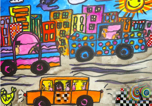 JEAN MARC: CAR IN TOWN - IN THE STYLE RIZZI - ACEO