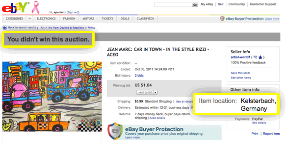Jean Marc ACEO auctions on eBay