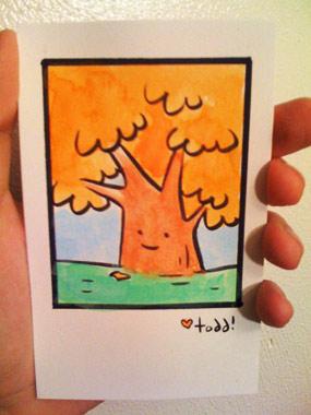 Orange Happy Tree by Todd Webb