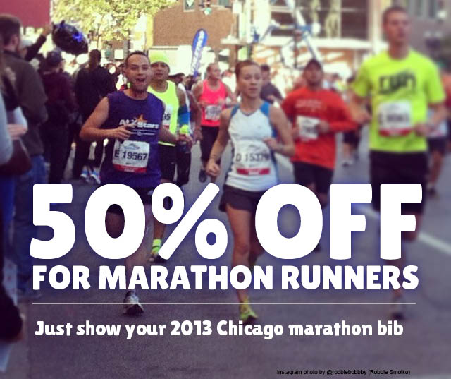 50% off for Chicago Marathon runners