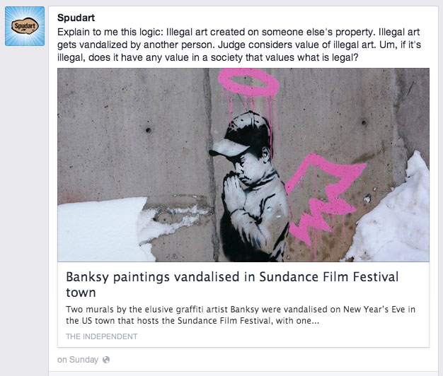 Illegal art created on someone else property