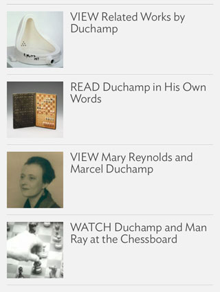 Duchamp: Hat Rack, iPhone