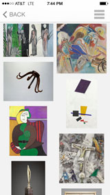 Screenshot of Art Instititute iPhone app named, A Closer Look