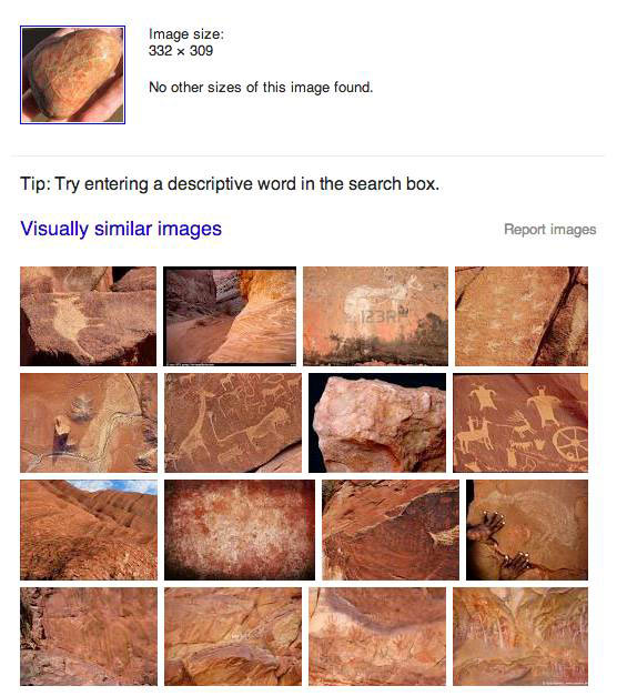 Google says this beach stone looks like cave drawings