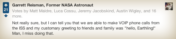 Astronaut: my customary greeting was hello, Earthling!