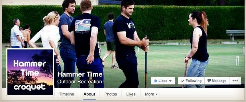 Hammertime Croquet's Facebook page