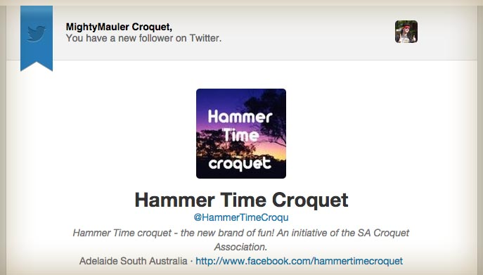 Twitter account of @HammerTimeCroqu