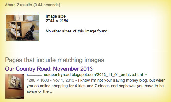 Reverse Google Image search Panera bread dog