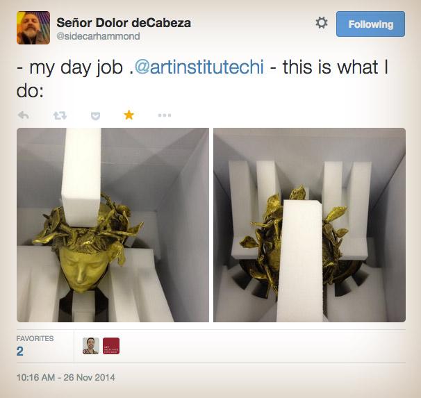 my day job .@artinstitutechi - this is what I do