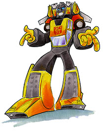 Sunstreaker the Transformer flirt