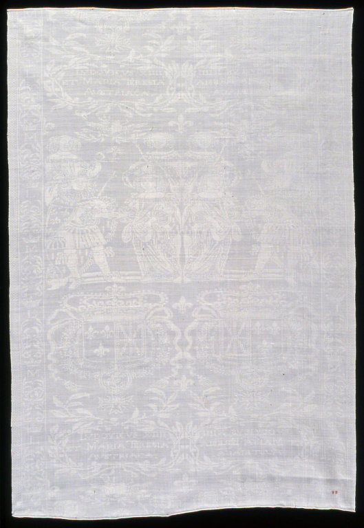 Napkin Commemorating the Marriage of Louis XIV