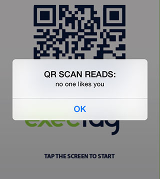 QR code translation: no one likes you