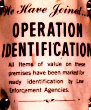 Operation Identification Log