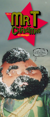 It's a Mr. T Christmas card, 2000