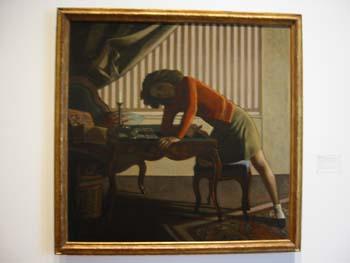 """Balthus (Count Balthasar Klossowski de Rola) """"Solitare"""", 1943"""