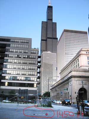 Sears Tower string height project: 1