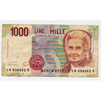 1000 lire bill found