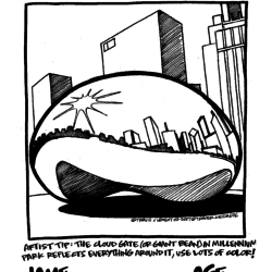 Trader Joe's coloring contest with the Chicago Bean