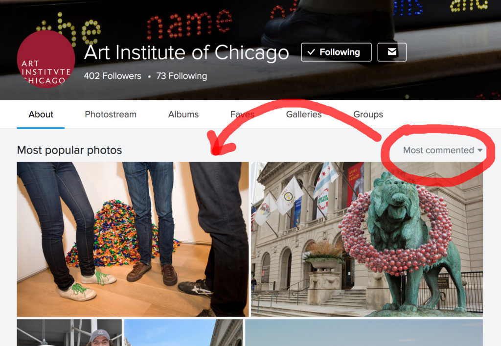 The most commented photo on the Art Institute of Chicago's Flickr account