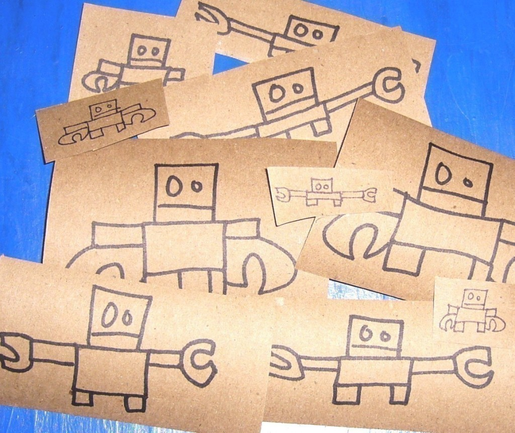 14 robot drawings on etsy