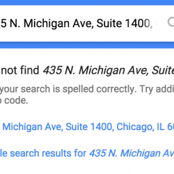 The intergalactic error on google maps