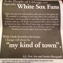 How AJ Pierzynski goofed his Chicago Tribune ad