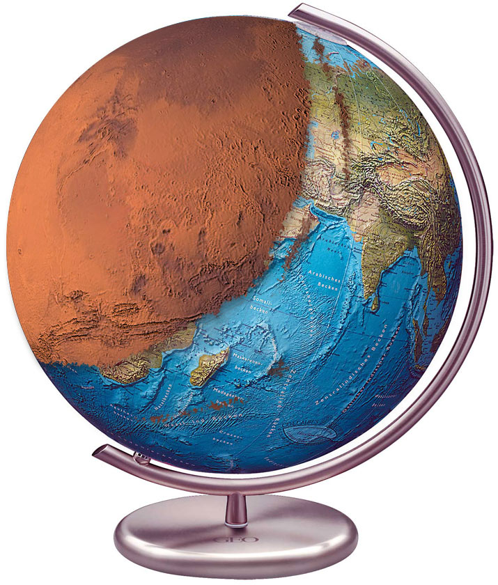 What Earth would look like with a Mars surface graft