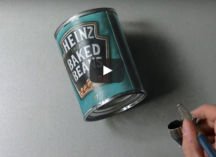 How I drew a can of beans