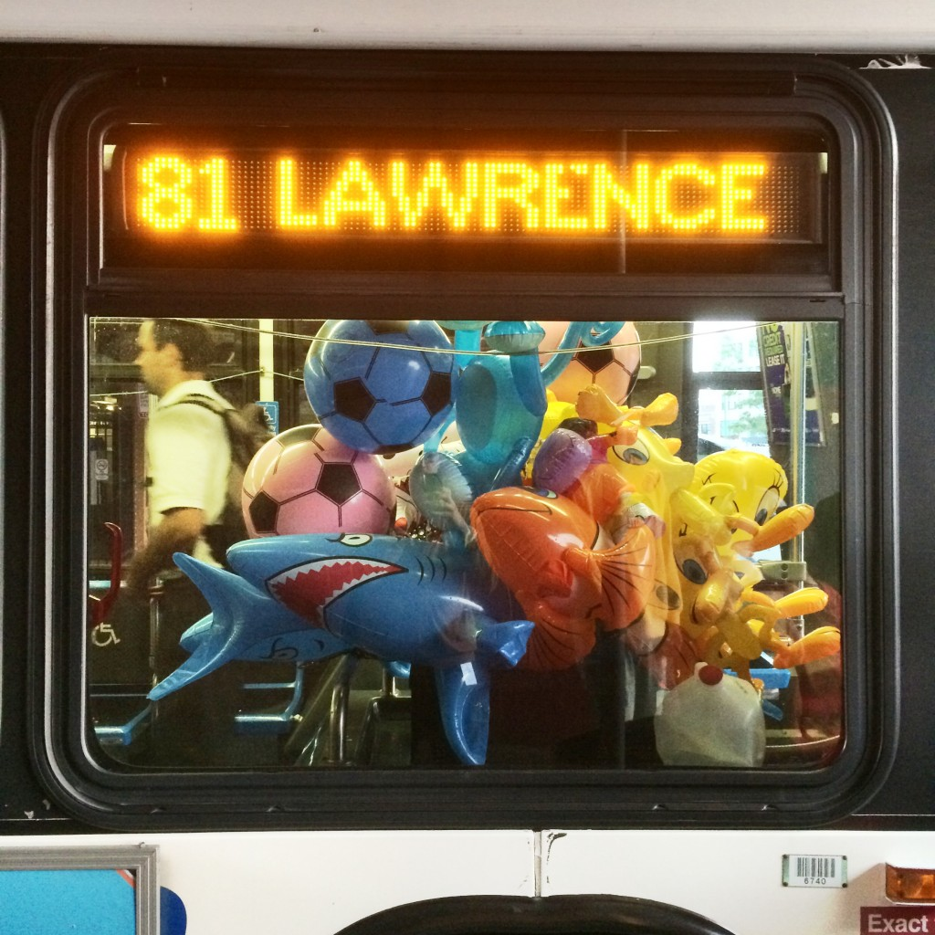 The inflatable 81 Lawrence bus