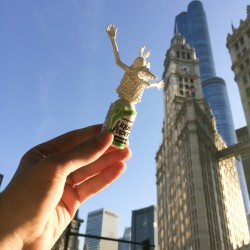 White-out monster talks about why Wrigley Building