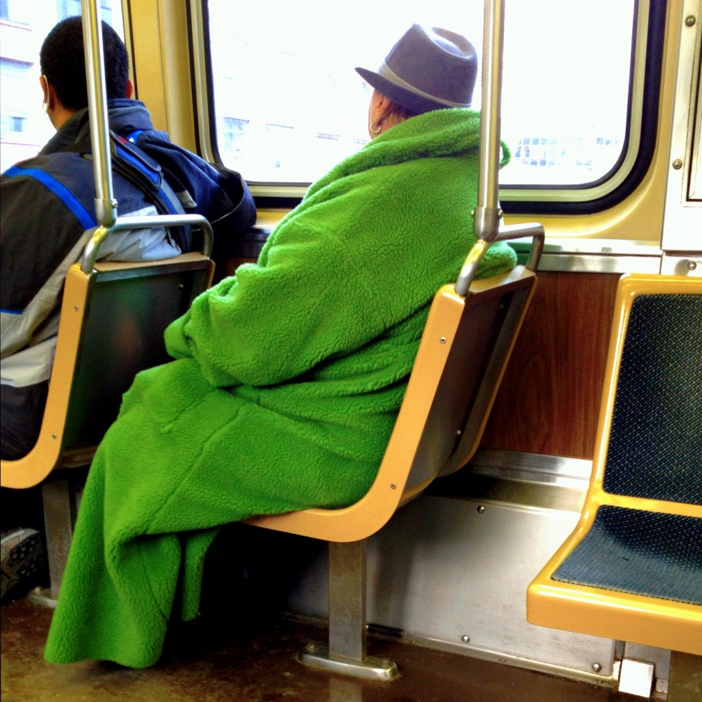 Winner of best St. Patrick's Day coat