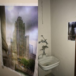 A secret locked closet in the Tribune Tower has one of my photos hanging up inside!
