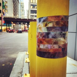 Carina Nebula wrapped around a parking pole #starwraps