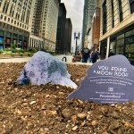 Moon rock 76055 found in sidewalk planter on Michigan Avenue in Chicago