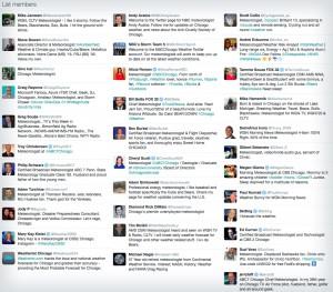 Chicago weathermen twitter list