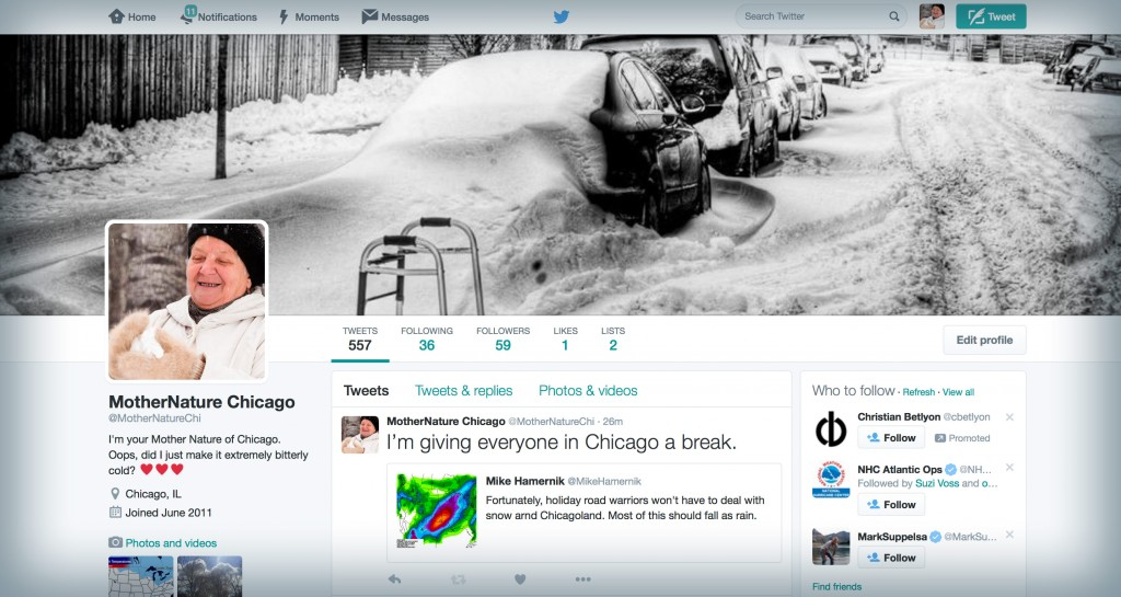 Mother Nature Chicago on Twitter