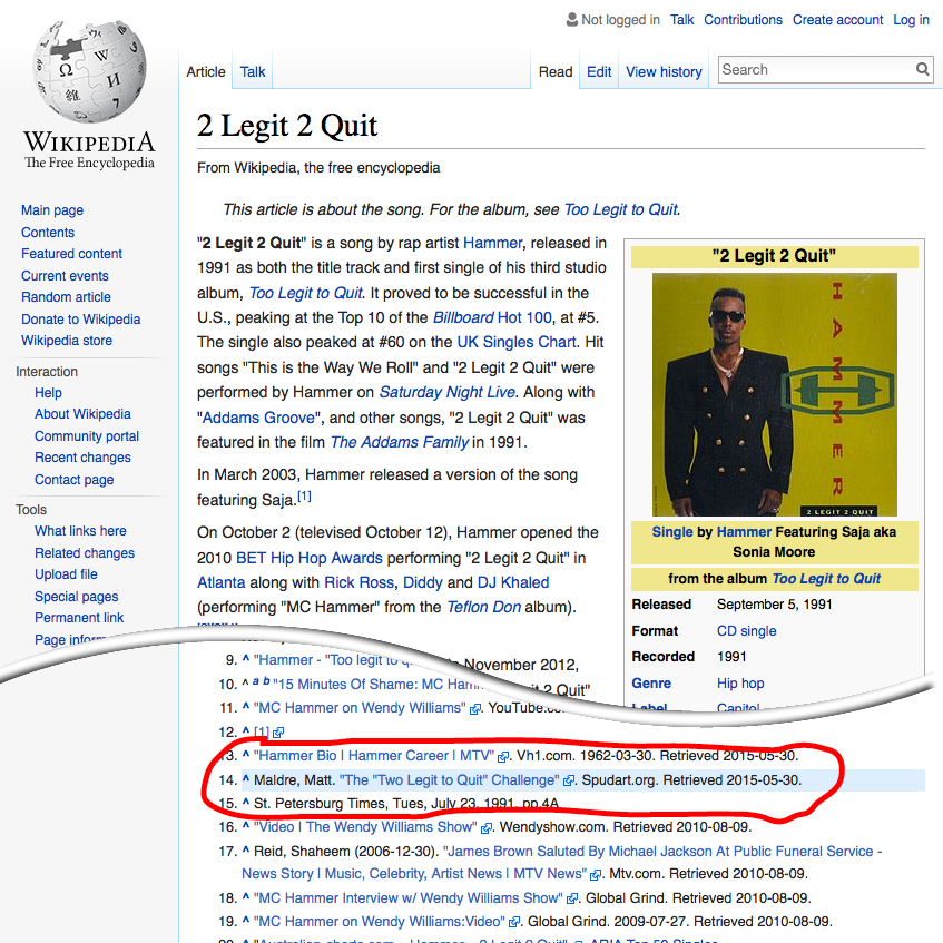 2 legit 2 quit wikipedia page
