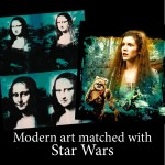 Modern art matched with Star Wars