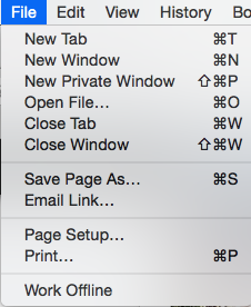 Save Page As... Firefox